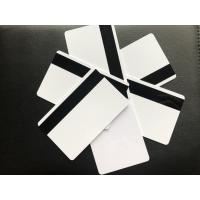 Buy cheap Blank White Glossy PVC Plastic Business Cards With Hico Magnetic 85.5x54x0.76mm product