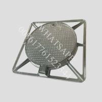 China Ductile Iron Sand Casting Manhole Cover with Coating and Painting Service on sale