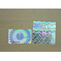 Buy cheap Black Color Numbers Printing Hologram Labels Stickers , 3D Laser Silver Hologram Sticker product