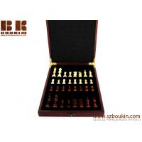 China Birthday Gift Personalized Wood Chess Set Traveling Chess  Gift Rosewood Box on sale