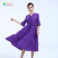 Buy cheap Female Plus Size Cotton Summer Dresses Short Sleeve With Garment Dyed Technic product