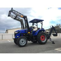 Buy cheap 2018 TRIDENT BRAND NEW 55HP TRACTOR 4WD+FEL+ BACKHOE + 5FT SLASHER SHUTTLE SHIFT 554 FOR SALE product