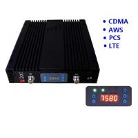 Buy cheap CDMA GSM AWS LTE Quad Band Mobile Signal Repeater 20 dBm Coverage 2000sqm 70dB Gain product