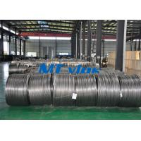 China TP304L / 1.4306 Small Diameter Stainless Steel Coiled Tubing For Cable Industry on sale