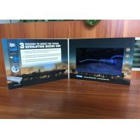 China Customized printed design video brochure 10'' wide screen video advertising cards for product sales on sale