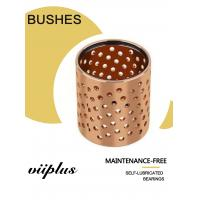 Buy cheap Grease Oil Hole Wrapped Bronze Bearings CuSn8 DIN 17662 FB092 Heavy Load product