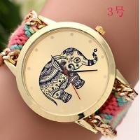 Buy cheap PU Leather + Glass Women / Lady Geneva Flower Watch with Logo Printing Hand Made product