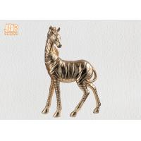 Buy cheap Table Decor Polyresin Zebra Statue Fiberglass Animal Sculpture Gold Leafed product