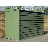 Buy cheap 6x6ft dark green metal shed with reasonable price product