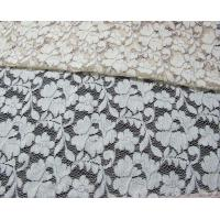 Buy cheap Grey Elastic Cord Lace Material / Floral Viscose Nylon Cotton Fabric CY-DK0011 product