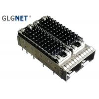 Buy cheap 10G Ethernet 1x2 SFP Cage Assembly Piggyback Heat Sink Press Fit Mounting product