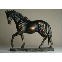 Buy cheap Life Size Antique Bronze Horse Sculptures , Hotel Decoration Outdoor Horse Sculpture product