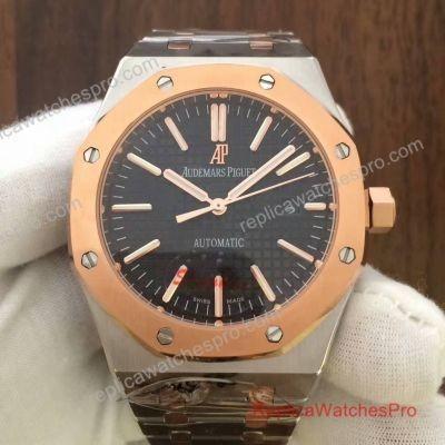 Quality Audemars Piguet Royal Oak Watch 2-Tone Black Dial for sale