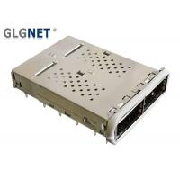 Buy cheap QSFP14 SFP Cage Connector 2 Port 1x2 Ganged 40G Ethernet Applied With EMI Gasket product