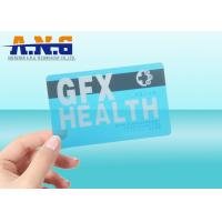 Buy cheap CR80 Size Clear transparent business card RFID with black magnetic stripe product