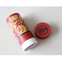 Environmental Red Gift / Craft Paper Tube packaging Box with ISO SGS FDA QS