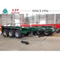 Buy cheap Heavy Duty 20 FT 3 Axle Skeletal Container Trailer With High Transport Efficiency product