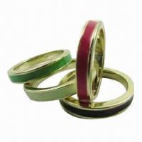 Buy cheap Multi-color stacker ring set with enamel product