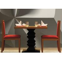 Buy cheap Dark Teak Modern Hotel Dining Table , Country Restaurant Table And Chairs Sets product