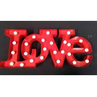 Buy cheap Metal Marquee LED Letter Lights , Wedding Decoration Illuminated Love Sign from Wholesalers