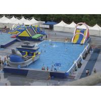 Buy cheap Summer Water Slide Amusement Park Above Ground Metal Pool Playground Equipment Use product