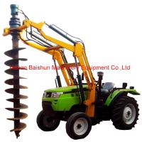 Buy cheap Alloy Steel Tractor Pole Erection Machine With Hydraulic Post Hole Digger from wholesalers