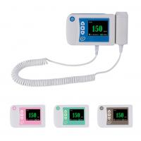 China Three color available digital fetal doppler ultrasound equipment baby heart rate monitor on sale