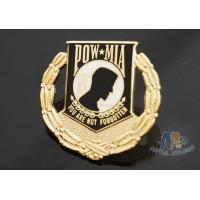 Buy cheap Custom Metal Hard Enamel Pow Mia Logo Lapel Pin Bages, Logo Effect Shiny Gold Silver Or Copper Plating product