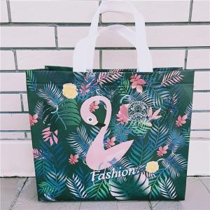 China Scrub Flamingo Clothing Store Bag Plastic Women's Non-woven Portable Plastic Bag Thicken Shopping Bag Customized on sale