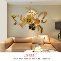Buy cheap Hot sale self adhesive wall mirror acrylic  decoration stickers product