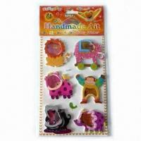 Buy cheap EVA Stickers, Exquisite Design, PVC Film Covering and 4 Colors Printing product