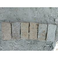 Buy cheap Chinese Yellow Granite Cube Stone Mesh Paving Stone With Cheap Price product
