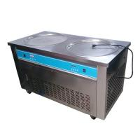 Buy cheap Double Pans Thai Rolled Ice Cream Machine , Flat Ice Cream Maker 2000W product