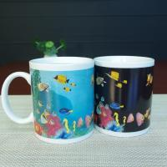 Buy cheap Blue Patch Ocean Custom Magic Mug With AB Grade White Ceramic product