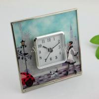 Shinny Gifts Fashion Simple Design On/Off On top Desk Clock Home Decorative