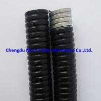 Buy cheap 10mm black and grey PVC jacketed metallic flexible conduit for cable management systems product