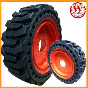 Buy cheap original rim design bobcat lynx solid skid steer loader tires rims 10-16.5 product