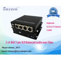 Buy cheap Beyonopto BY-XLR-2AA DVCPRO XLR audio over fiber extender,Rideo audio fiber transmitter and receiver product