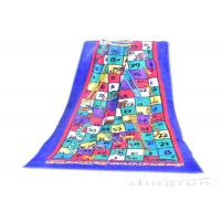 Buy cheap Reactive Large Snakes And Ladders Game Beach Towel Printing 400gsm product