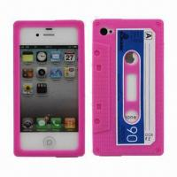 China Classic Cassette Tape Silicone Case for iPhone 4 and 4S on sale