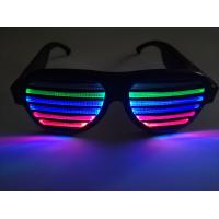 Buy cheap New Style Voice-Activated LED glasses Sound activated shutter led flashing glasses with USB charger led sunglasses product