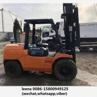 Japan Made Toyota 5ton Used Diesel Forklift Truck 7fd50 With Side Shift for sale