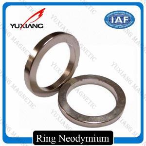 Ndfeb N35 - N52 Sintered Neodymium Permanent Magnets Bright Silver Color