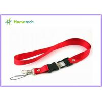 Buy cheap 32GB Red Lanyard USB Flash Drives 2.0 Memory for Necklace , Engraved product