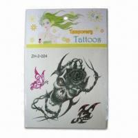 Buy cheap Non-Toxic Tattoo Sticker with Fulfill Color Printed, Single Animal Style Design product