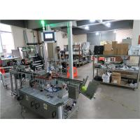 Auto Top Flat Surface Label Applicator With Conveyor / Top Labeling Equipment For Flat Side