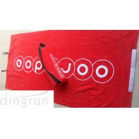 Buy cheap Red Luxurious Velour Custom Printed Beach Towels Attached Foam Pillow / Carry Strap product