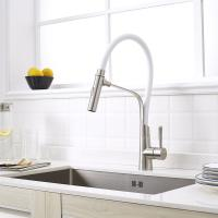 Quality Stainless steel Polished sink faucet kitchen white flexible hose for kitchen for sale