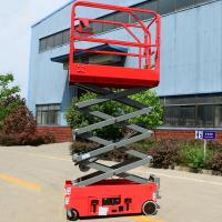 Buy cheap Extendable Vertical Electric Scissor Lift Small Lightweight Aerial Lifts product