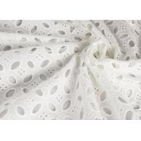 Buy cheap Heavy Vintage Eyelet 100% Cotton Lace Fabric Wholesale By The Yard product